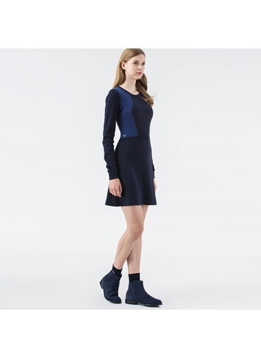 Uzun Kollu Kloş Elbise-Lacoste